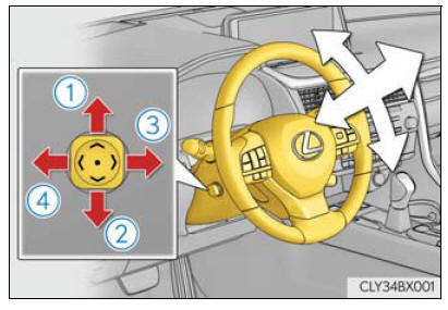 Lexus RX. Adjusting the steering wheel and mirrors